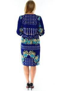 Платье короткое с принтом зимнее П1229
