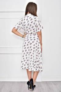 Платье короткое нарядное с принтом Т8987
