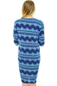 Платье длинное с принтом трикотажное Н0610