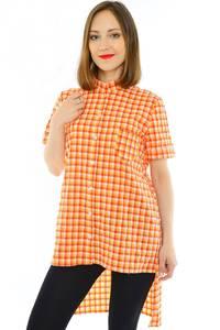 Рубашка в клетку с коротким рукавом Н1175