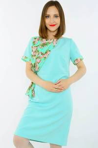 Платье короткое летнее голубое Н1522