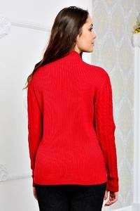 Кофта с длинным рукавом красная теплая П8723
