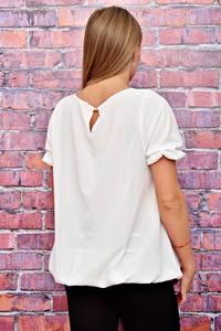 Блуза белая с коротким рукавом Т4507