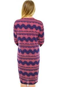 Платье длинное с принтом трикотажное Н0611