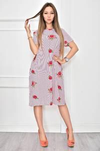 Платье короткое с принтом летнее Т8968