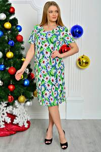 Платье короткое летнее с коротким рукавом П7924