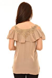 Блуза летняя с кружевом Л5974