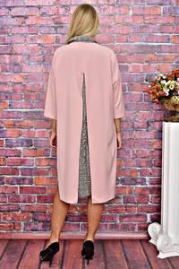 Платье Двойка длинное однотонное нарядное Т5935