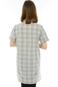 Рубашка удлиненная в клетку Н1177