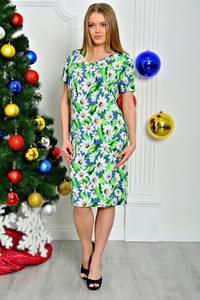 Платье короткое летнее с коротким рукавом П7925