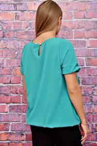 Блуза голубая с коротким рукавом Т4509