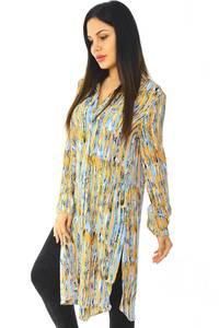 Рубашка-туника с принтом с длинным рукавом Н5957