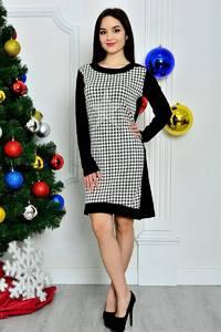 Платье короткое классическое с принтом П8399