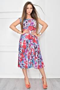 Платье короткое с принтом летнее Т8967