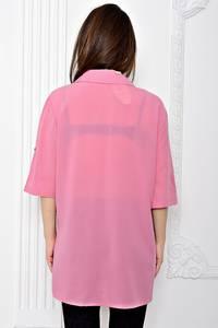 Рубашка однотонная с коротким рукавом Т0693