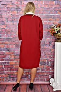 Платье Двойка длинное красное нарядное Т5936