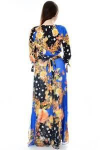 Платье длинное повседневное с принтом П6691