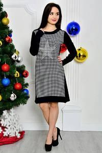 Платье короткое классическое с принтом П8400