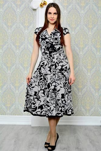 Платье длинное повседневное с принтом П9281