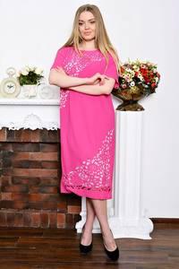 Платье длинное вечернее красное Р7345