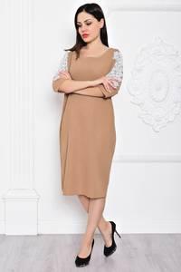 Платье короткое с кружевом С9685