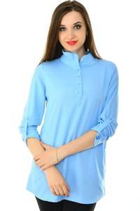 Блуза синяя для офиса Н7146
