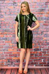 Платье короткое с коротким рукавом деловое П5724