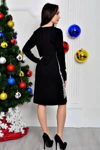 Платье короткое классическое с принтом П8401