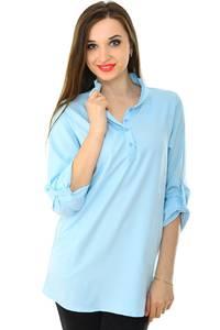 Блуза синяя для офиса Н7147