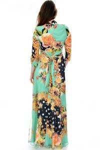 Платье длинное повседневное с принтом П6693