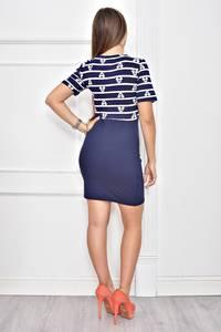 Платье короткое с принтом облегающее Ф0255