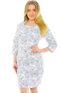 Платье короткое белое нарядное Н0618