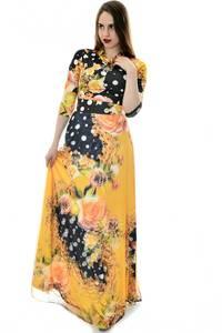 Платье длинное повседневное с принтом П6694