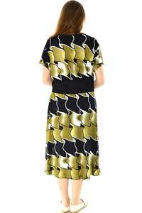 Платье длинное с коротким рукавом летнее Н7743