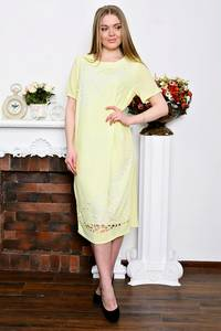 Платье длинное с кружевом нарядное Р7349