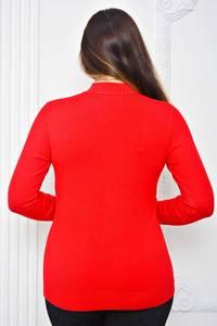 Кофта с длинным рукавом красная теплая П9741