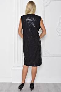 Платье длинное вечернее черное Т1109