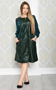 Платье-туника короткое однотонное деловое Т2040