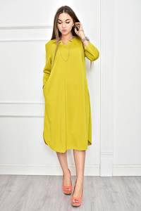Платье короткое желтое однотонное Ф0258