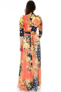 Платье длинное повседневное с принтом П6695