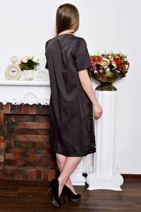 Платье длинное с кружевом деловое Р7350