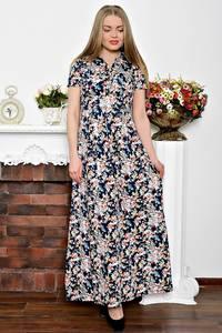 Платье длинное летнее с принтом С7238