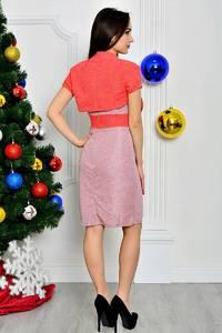 Платье Двойка короткое летнее нарядное П8404