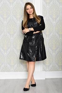 Платье-туника короткое черное деловое Т2041