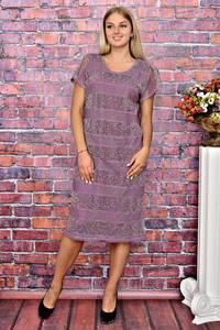 Платье длинное летнее с коротким рукавом Т5941