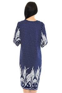 Платье длинное с принтом зимнее М5399
