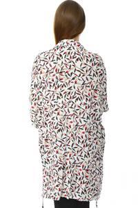 Рубашка удлиненная белая с принтом Н6080