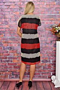 Платье короткое летнее с коротким рукавом Т5942