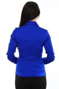 Рубашка синяя с принтом М8819