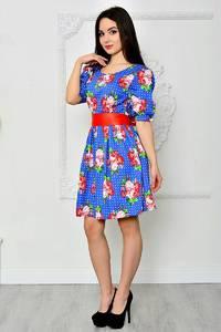 Платье короткое летнее нарядное П8407